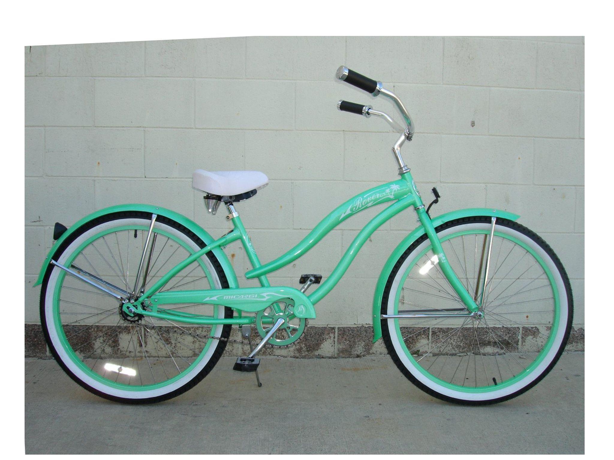 "Micargi 26"" Rover GX Beach Cruiser Single-Speed Bike(Mint Green)Womens"