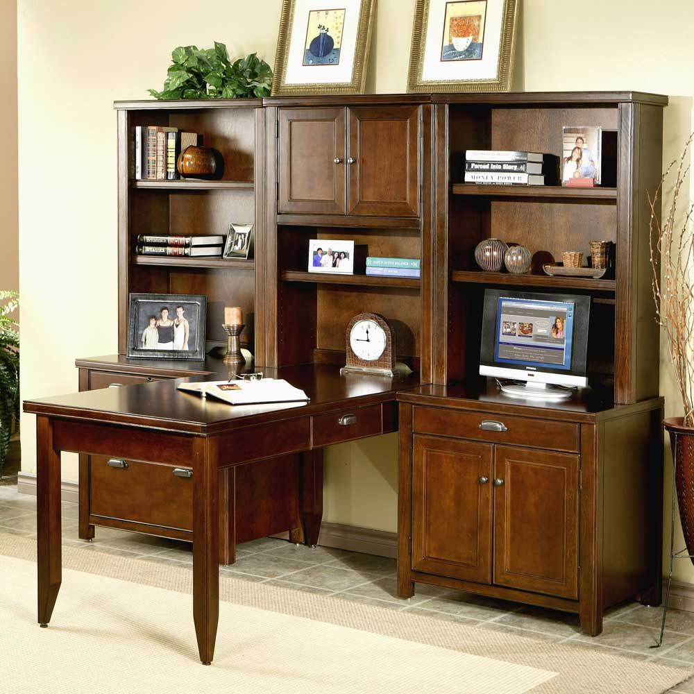 Tribeca Loft L-Shaped Wall Desk By Kathy Ireland Home By