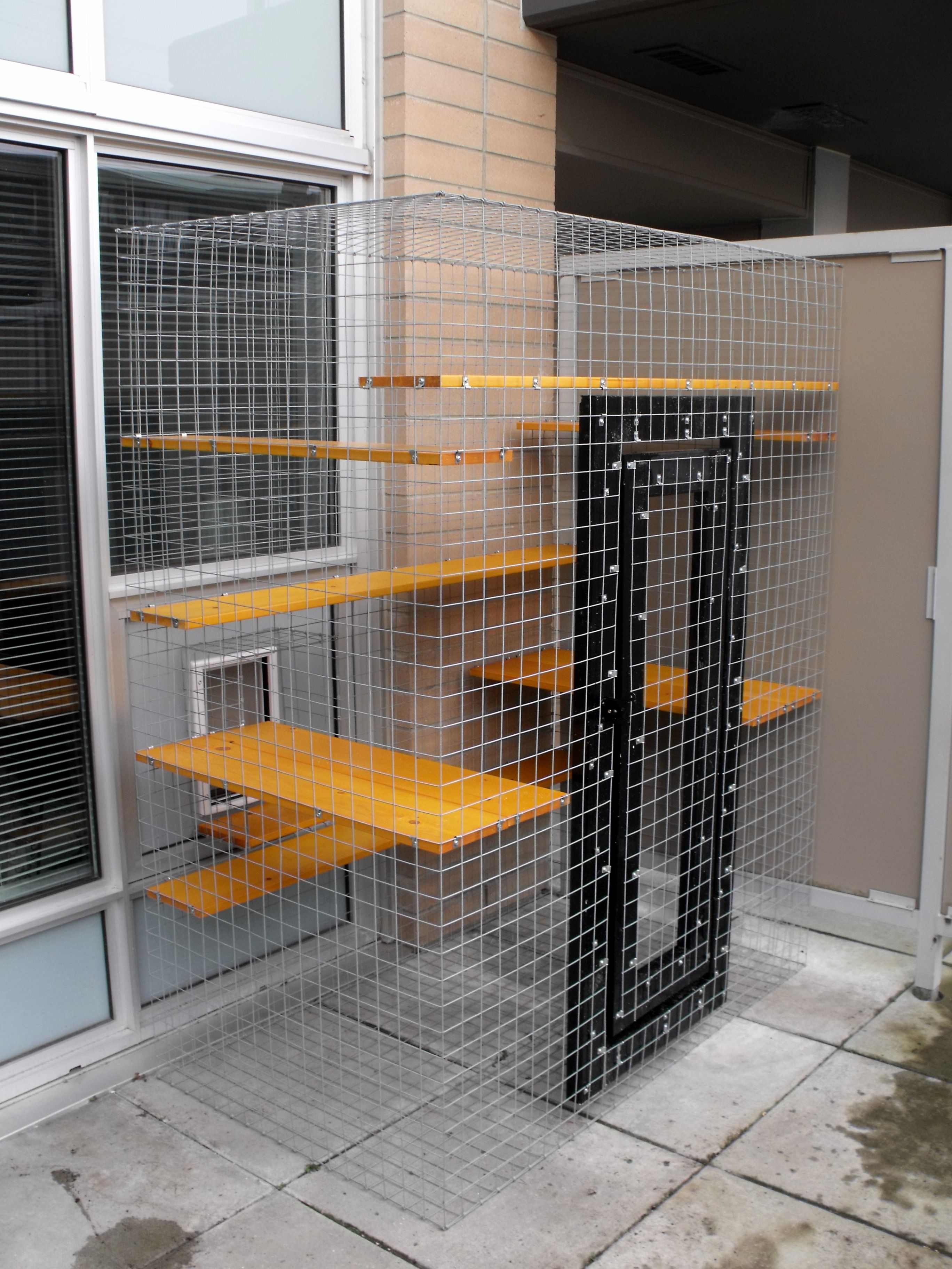 A Patio Cat Enclosure In A High Rise Condo Beautiful World Living  Environments Www.abeautifulwor