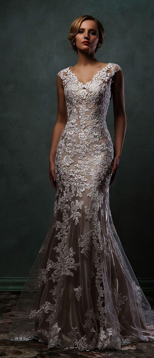 Lace wedding dresses long lace wedding dress elegant beach wedding