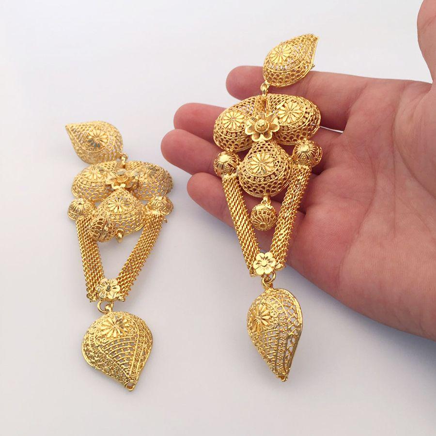 ddd3799d8 Anniyo 14CM African Big/LONG Earrings for Women Middle East Festival Jewelry  Dubai Arab Gift New Ethiopian Hyperbo Style #009723-in Drop Earrings from  ...