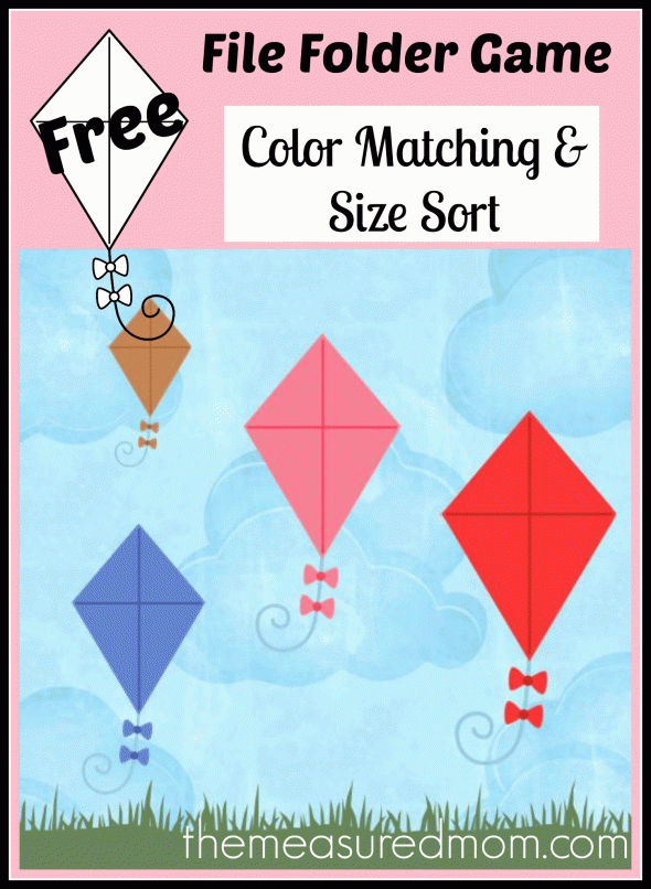 Free file folder game for preschoolers Kites! Free