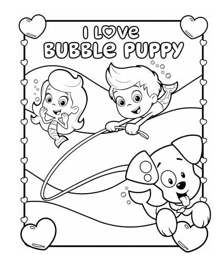 Bubble Guppies I Love Bubble Puppy Coloring Pack | Coloring Pages ...