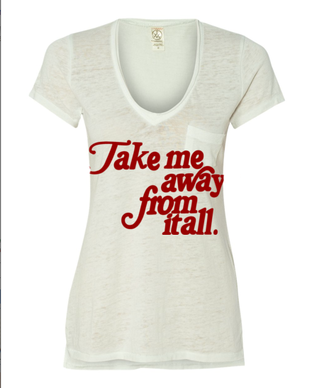 5ef81c441be Take Me Away Printed Vintage Tee