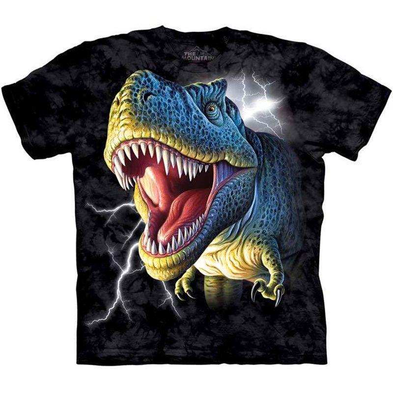 e77cfc3cd The Mountain LIGHTNING T-REX Tyrannosaurus Face Dinosaur T-Shirt S-3XL NEW  #TheMountain #GraphicTee