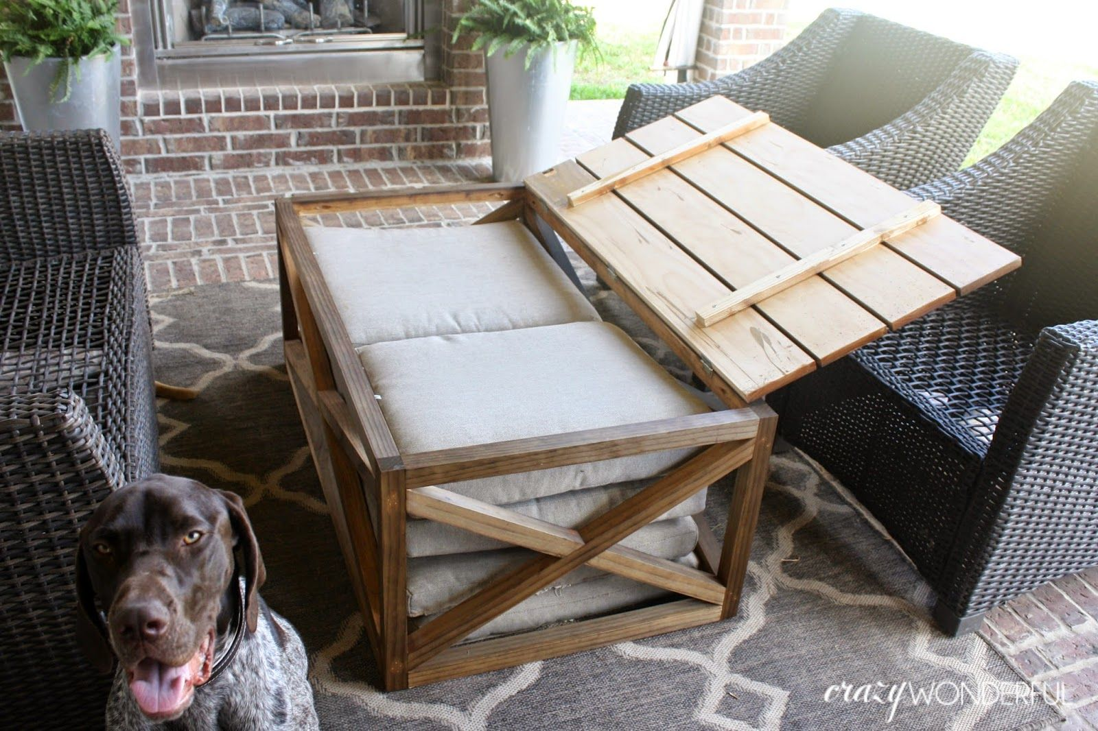 Diy outdoor coffee table with storage diy coffee table