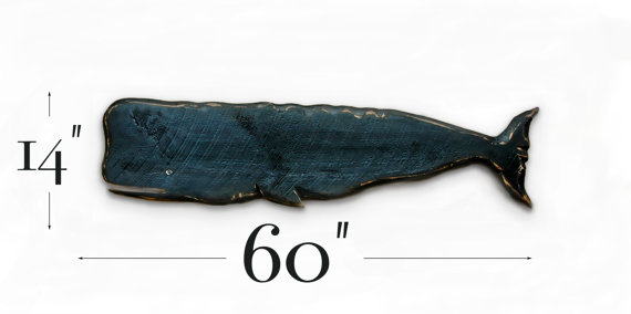 Large Wooden Whale Wooden Wall Art Hand Carved Outdoor Or Indoor