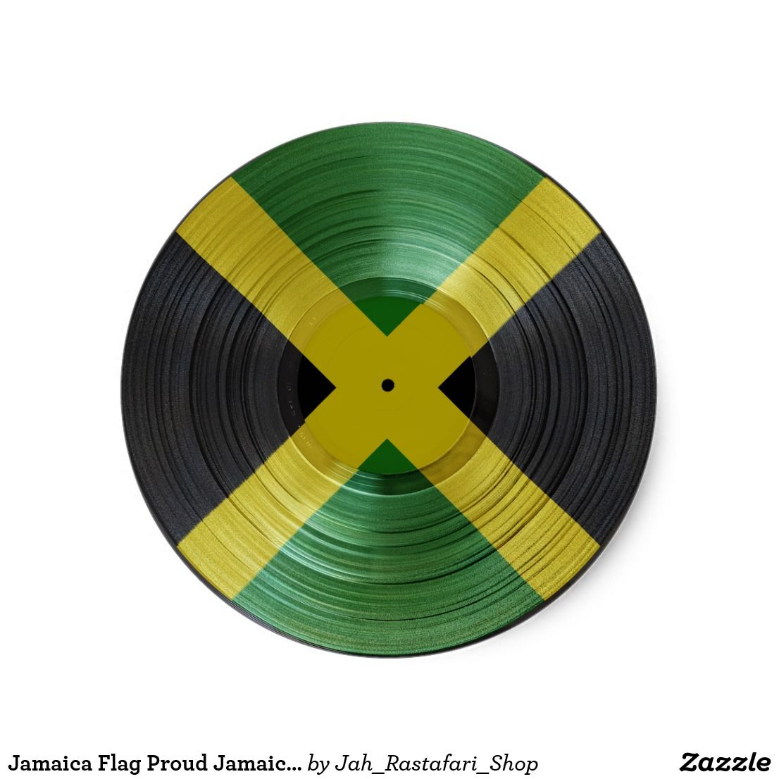Jamaica flag proud jamaicans reggae music sticker