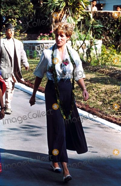 Princess Diana at the Pakhribas Agricultural Research Centre in Nepal 1993 Photo by Alpha-Globe Photos