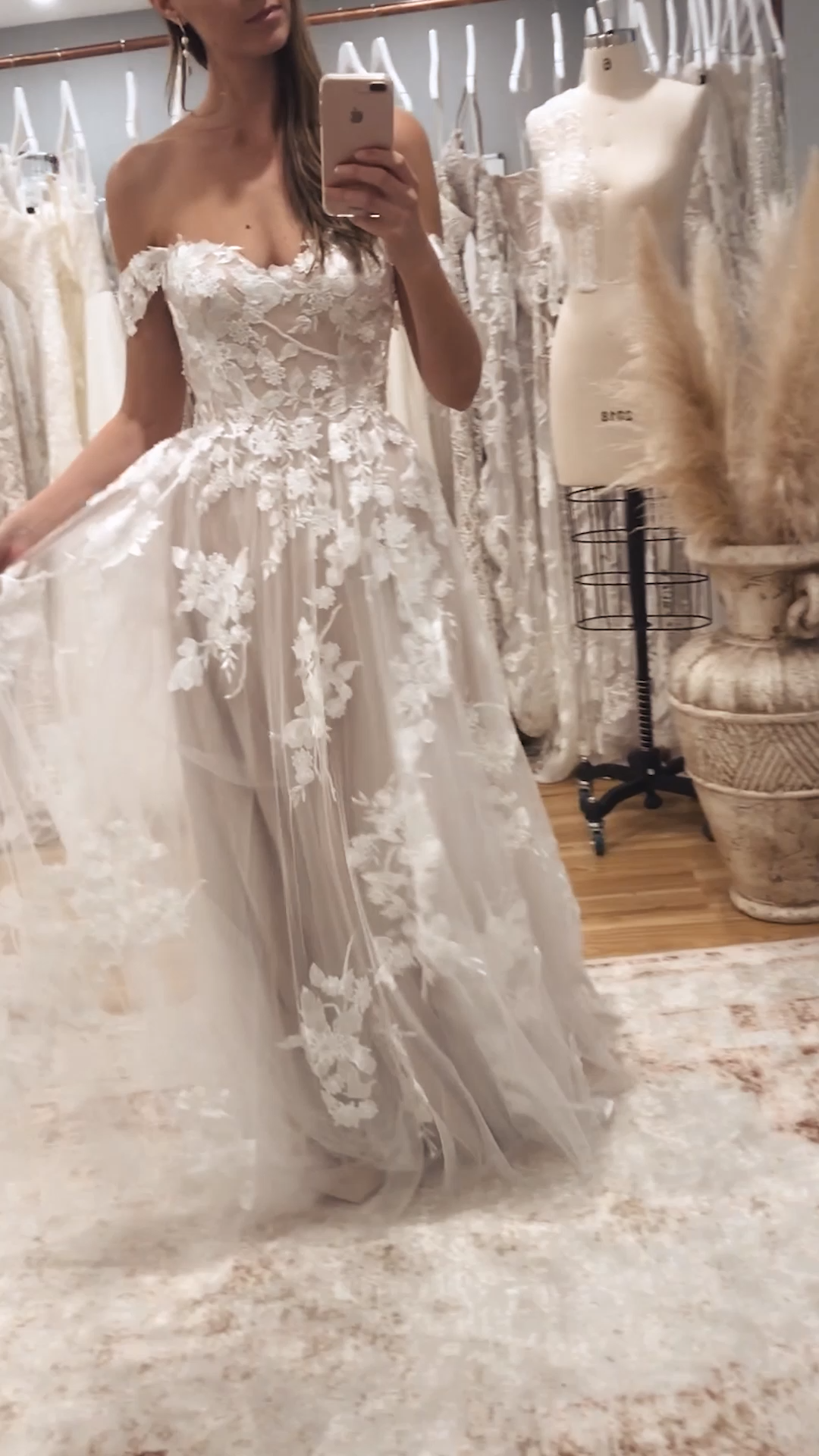 Photo of The floral romantic dress ELORA by Madi Lane Bridal | Style number: ML8518