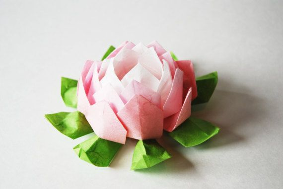 Pink Origami Lotus Flower Wedding By ShenandoahFolds