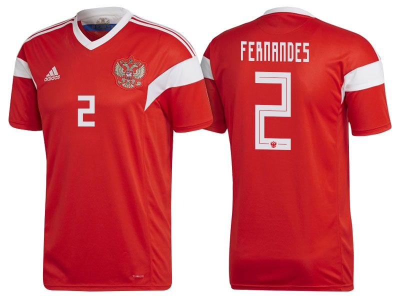 Russia 2018 World Cup Home Jersey Shirt Mario Fernandes World Cup Jerseys Russia World Cup Wholesale Shirts