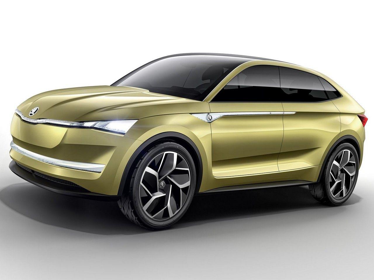 skoda vision e concept 2017 v hicule 100 lectrique la voiture lectrique voitures. Black Bedroom Furniture Sets. Home Design Ideas