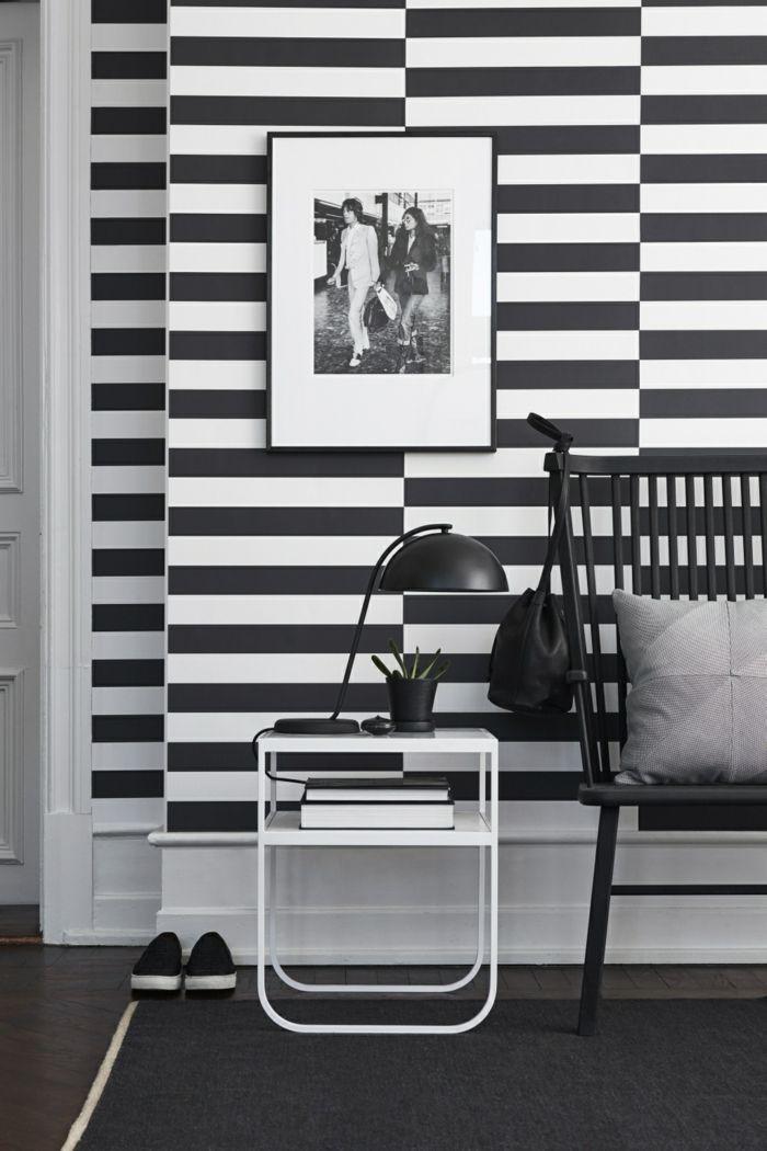 ▷ 1001+ Muster Schwarz-Weiß lassen Sie eine Wandgestaltung mit - wohnzimmer schwarz wei