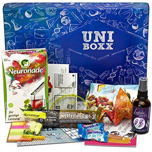 uni boxx geschenk f r studenten zur lernmotivation geschenke f r freunde geschenke f r. Black Bedroom Furniture Sets. Home Design Ideas