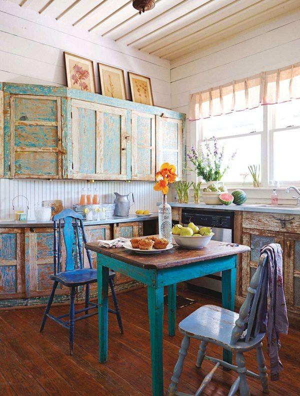 Country style y chalk paint muebles de cocina envejecer - Mesas cocina vintage ...