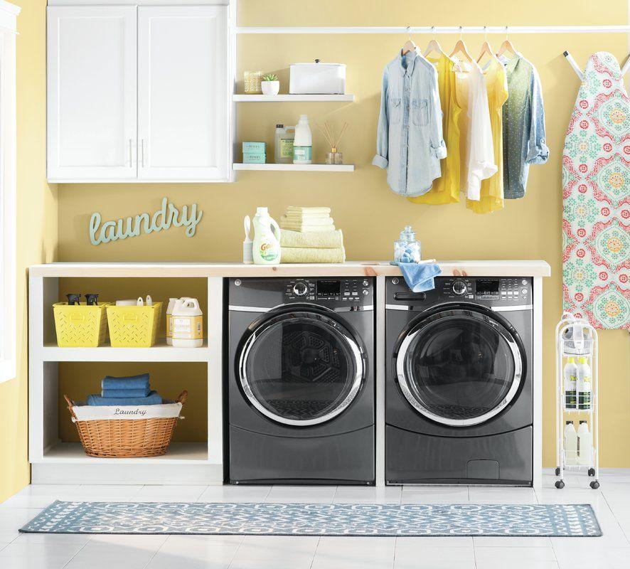 Slimline 3 Shelf Laundry Cart Laundry Room Storage Laundry Room Colors Yellow Laundry Rooms
