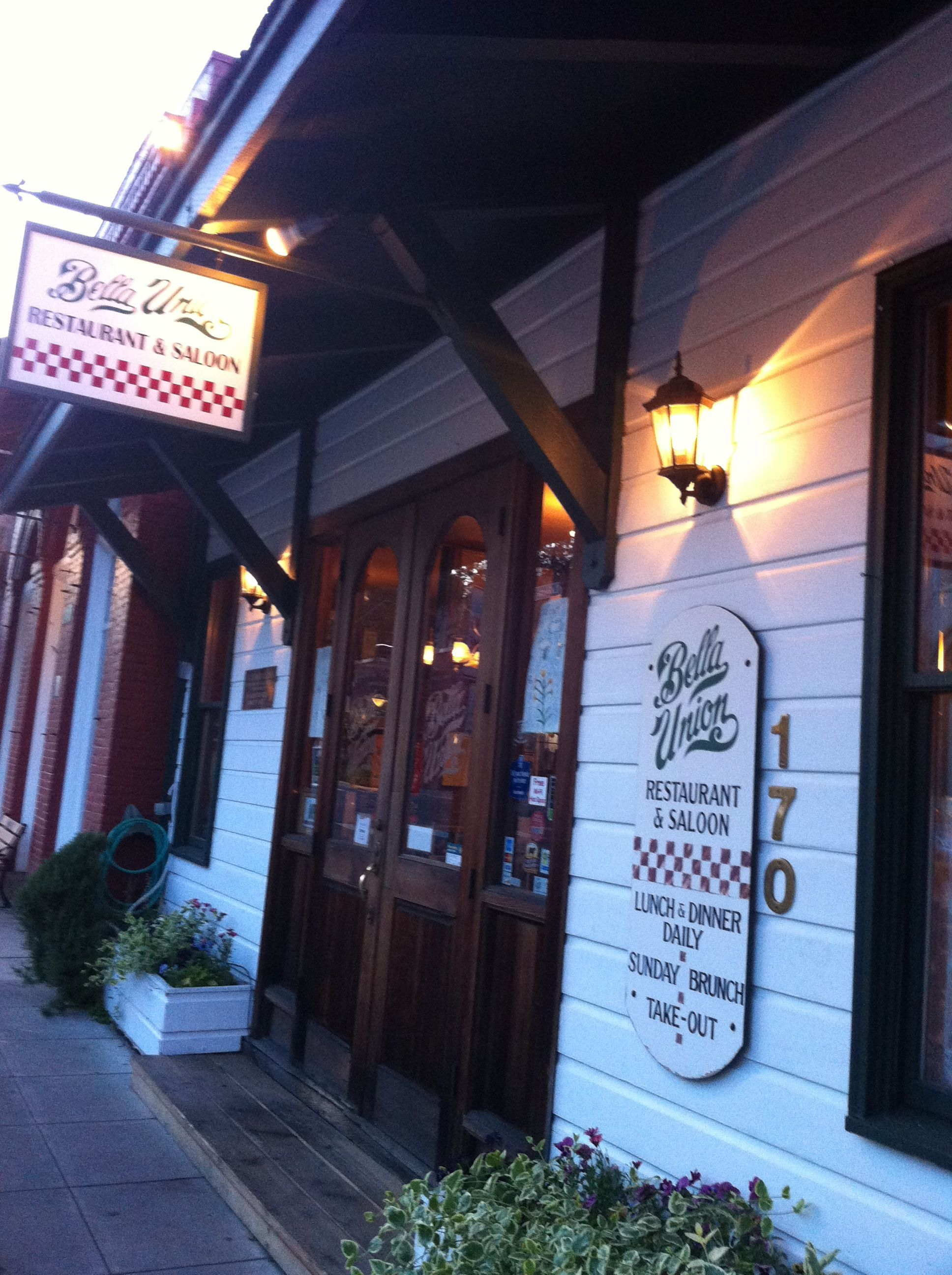 Historic Jacksonville Oregon Bella Union Italian Restaurant