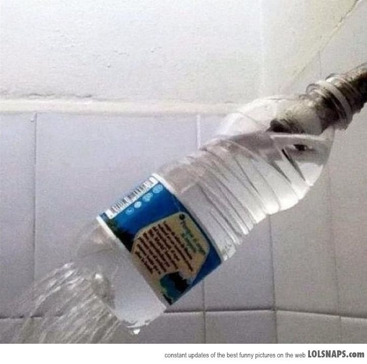 Ghetto Shower hahahahahahaha.  I actually think this is clever if in need???