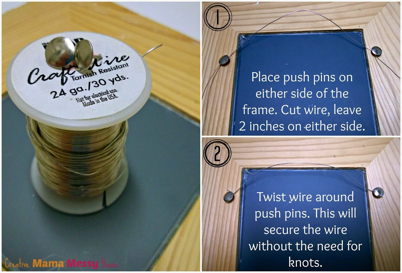 Quick Fix - Picture Frame Hanger :: Creative Mama, Messy House | DIY ...