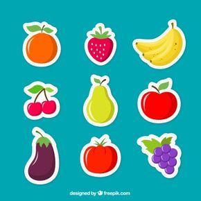 Frutas adesivos