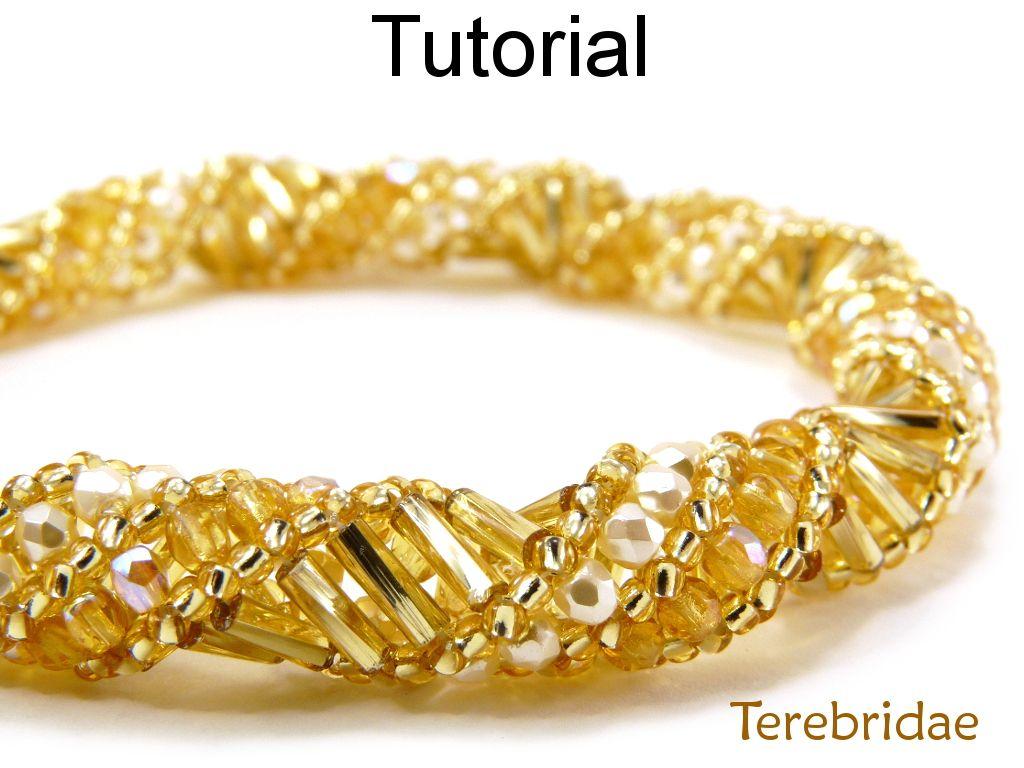 Beading Pattern Tutorial Bracelet Necklace - Russian Spiral Stitch ...