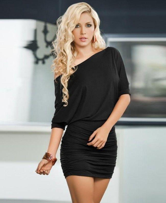 769dda17da2 Sexy Black Fashion Wrapped Chest Mini Dress - Kissloves