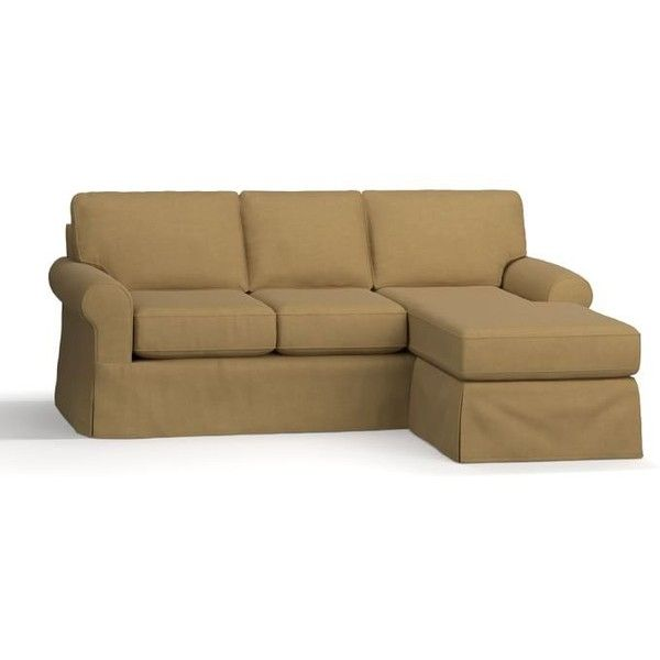 Pottery Barn Buchanan Roll Arm Slipcovered Sofa With Reversible Chaise...  ($2,299)