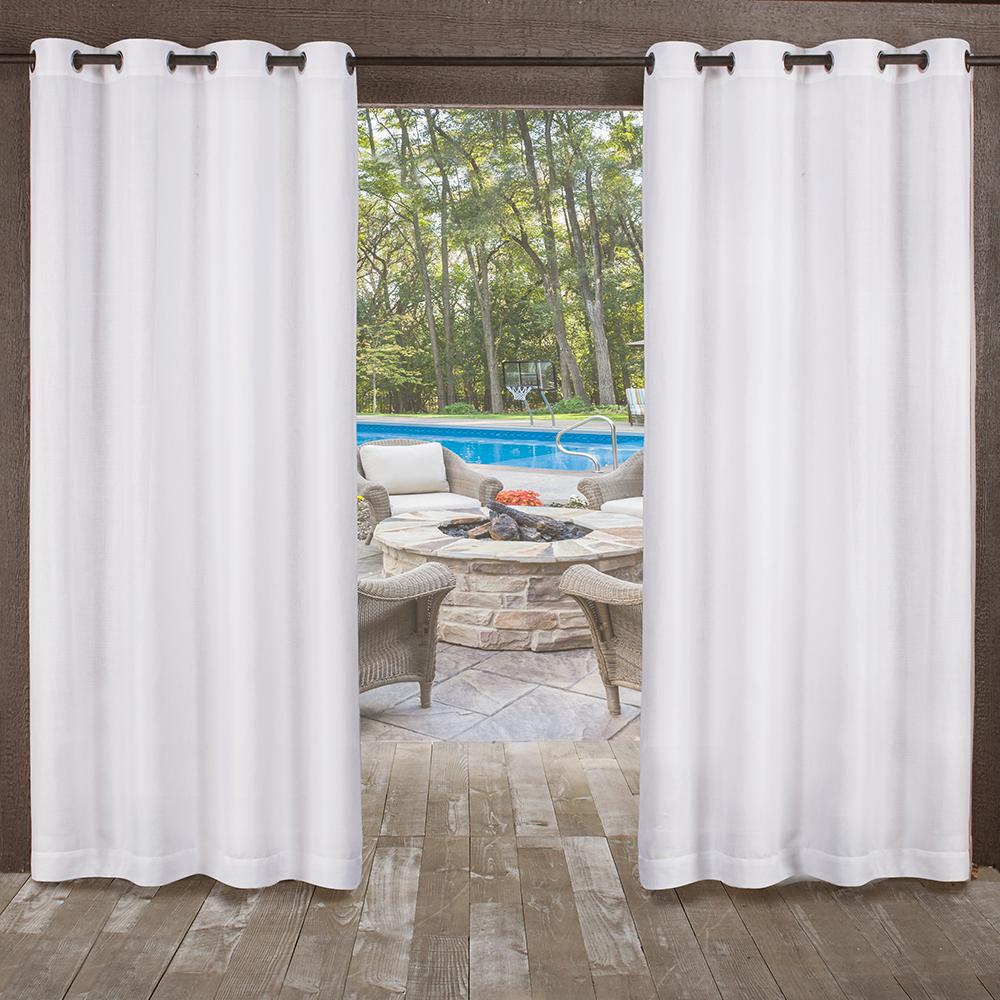 Miami 54 In W X 84 In L Indoor Outdoor Grommet Top Curtain Panel