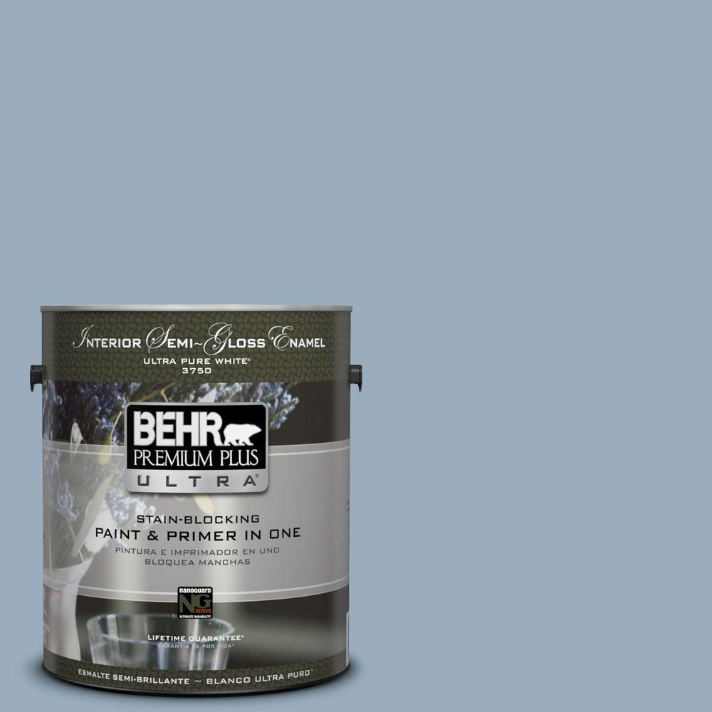 Visit The Home Depot To Buy BEHR Premium Plus Ultra Home Decorators  Collection Provence Blue Semi Gloss Enamel Interior Paint 375401