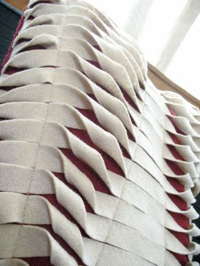 Tejido en la red: Grandes cojines de Fieltro #fabricmanipulation