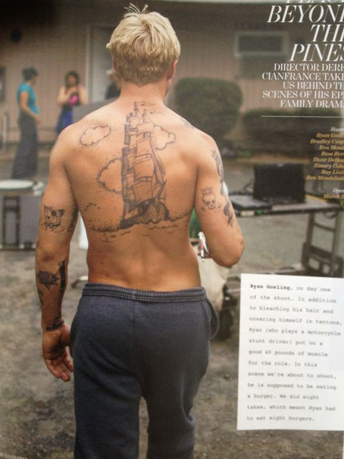 Place Beyond the Pines Temporary Tattoos for Cosplay   Etsy