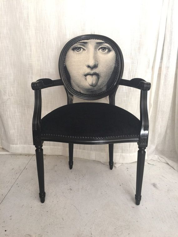 black glossy french louis xvi armchair upholstered in black velvet and face by heather rudd. Black Bedroom Furniture Sets. Home Design Ideas
