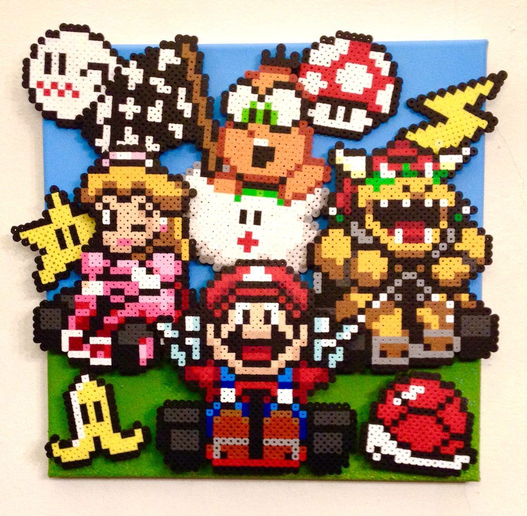 Mario Kart Magnets 9 Pieces Bugelperlen Perler 12