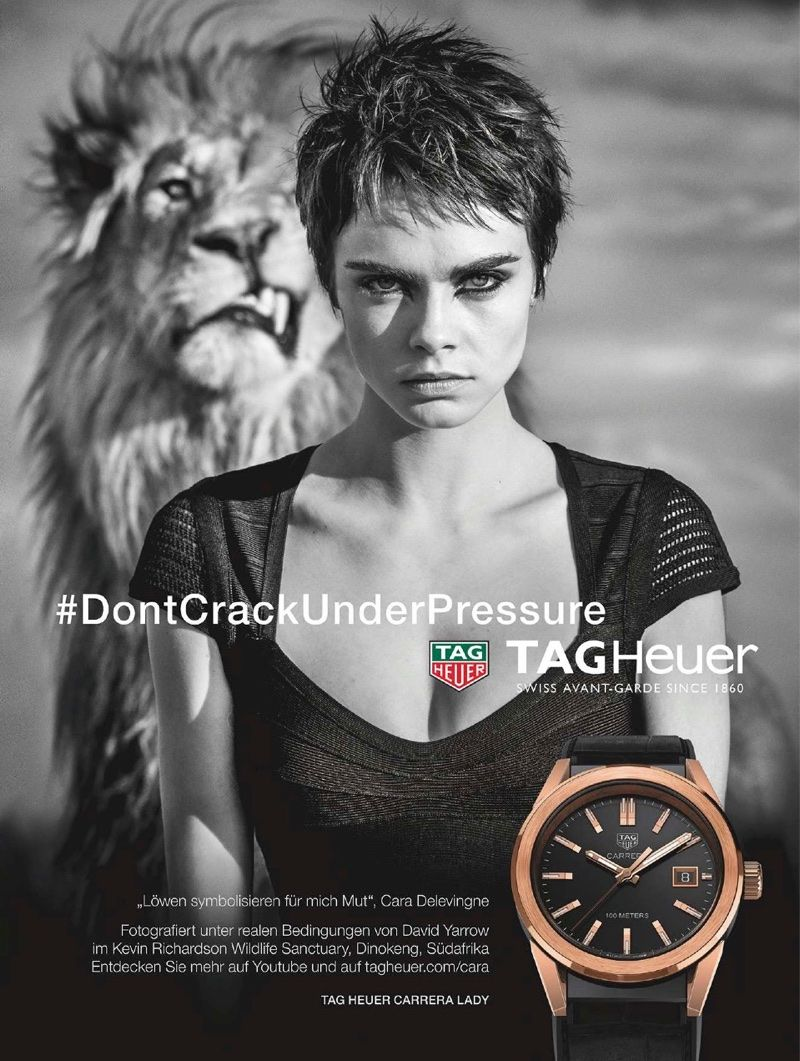 Heather Greene Las Vegas Porn - Cara Delevingne stars in Tag Heuer campaign