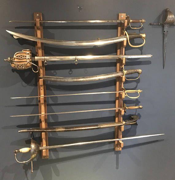 wall mounted sword rack bokken rack
