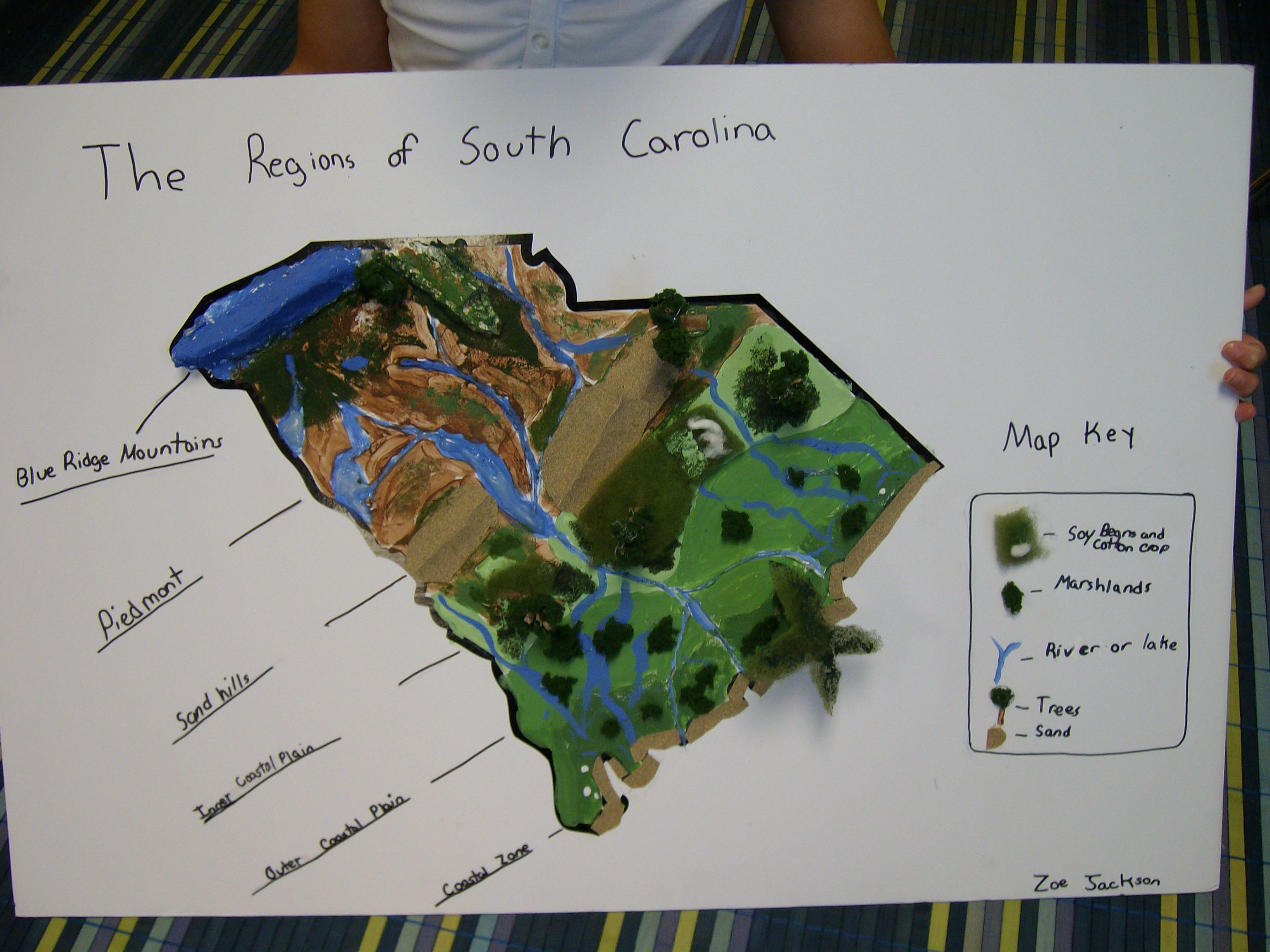 Cool Project For Landform Regions Of Sc Could Do The Same