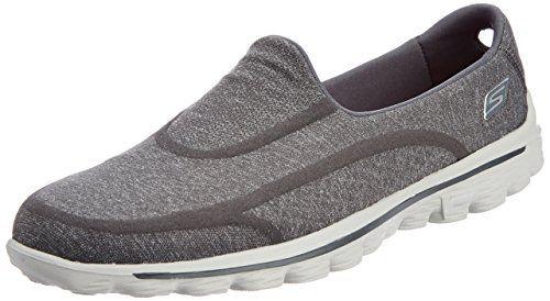 Skechers Performance Womens Go Walk 2 Super Sock 2 SlipOn Walking Shoe