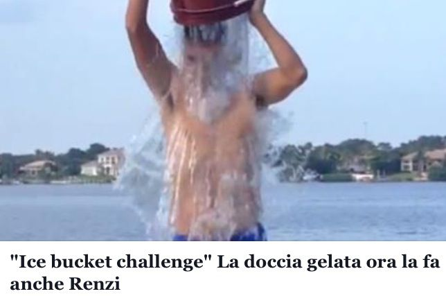 Matteo Renzi...e vai con la doccia,,,