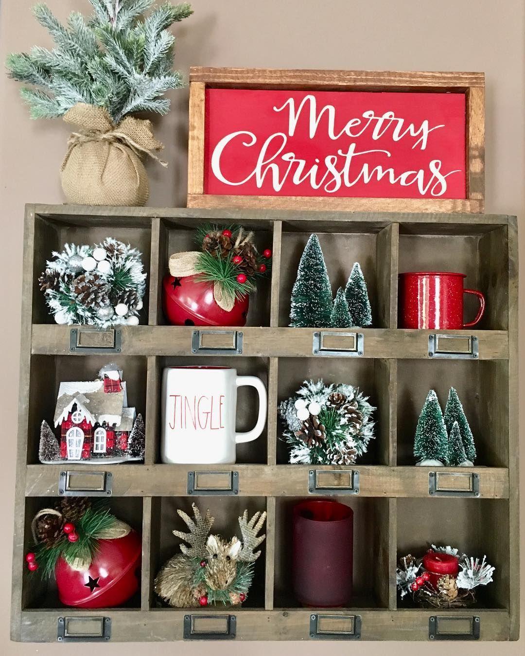 Hobby Lobby Shelf with Christmas decor | Hobby lobby ...