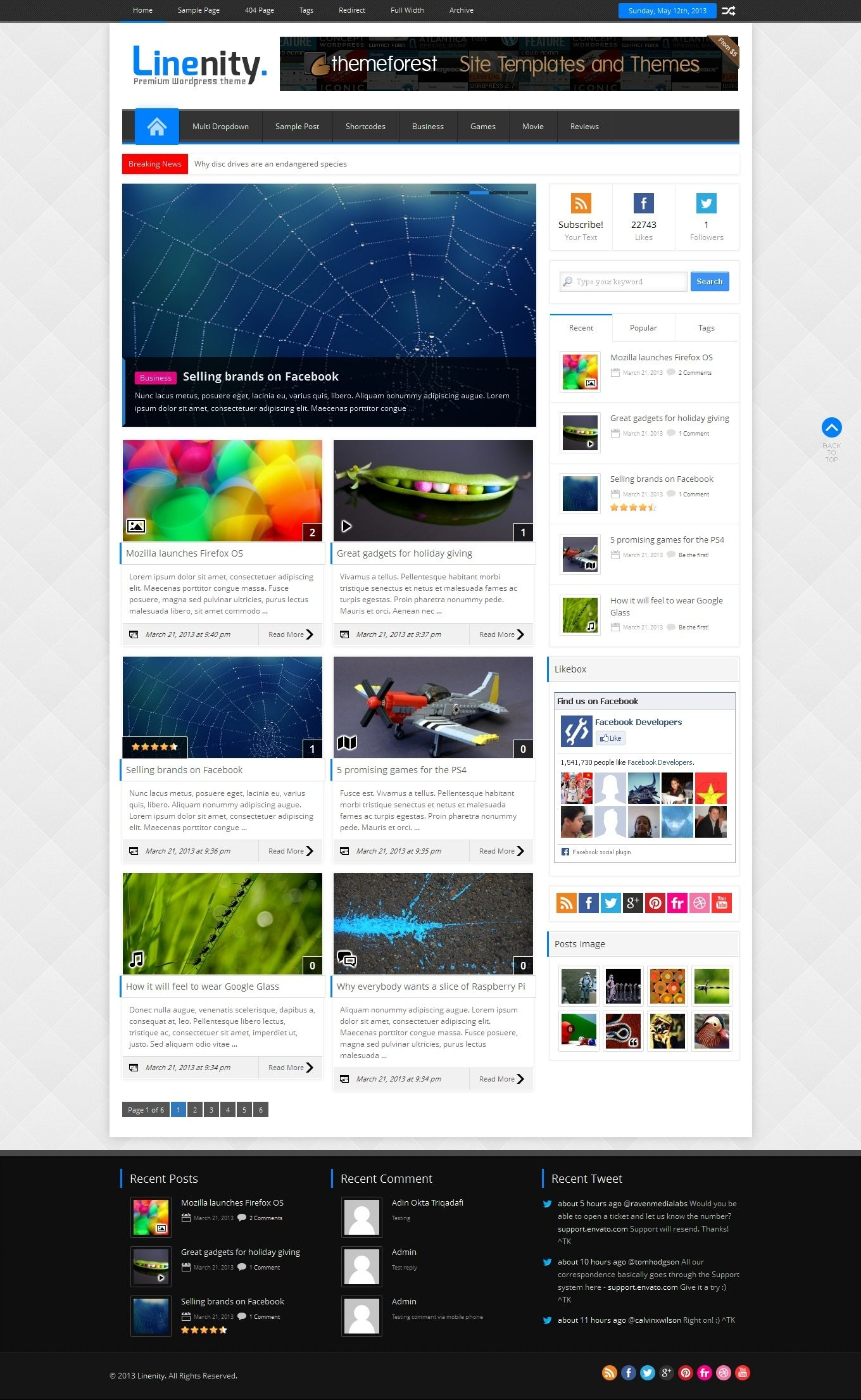 Blog Website Templates Linenity  Clean Responsive WordPress Magazine  News  Editorial