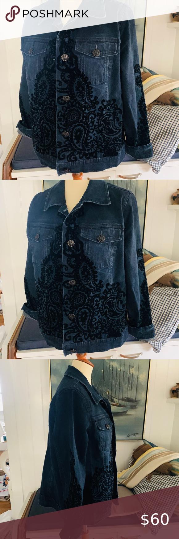 Dg2 By Diane Gilman Blue Jean Jacket With Flock Blue Jean Jacket Jean Jacket Diane Gilman [ 1740 x 580 Pixel ]