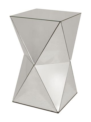 Three Hands Mirrored Side Table