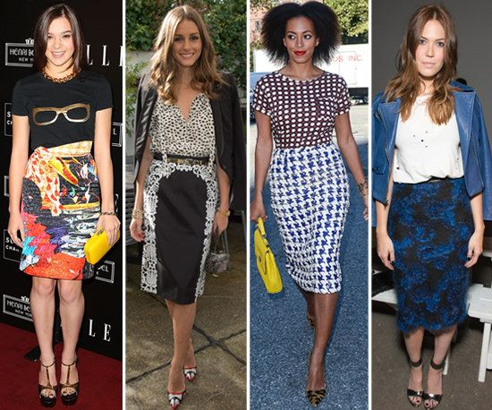 pencil skirt outfits | Like printed pants , printed pencil skirts ...