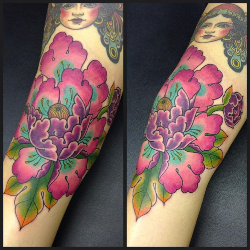 Peony Flower Tattoo: Japanese Flowers Tattoo Names And Their Meanings