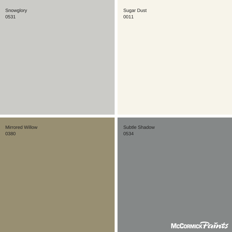 Introducing the Winter 2014 - 2015 Color Palette by McCormick Paints.