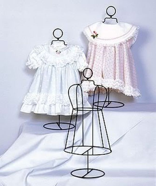 Infant size wire dress form collectible shelf display home decor ...