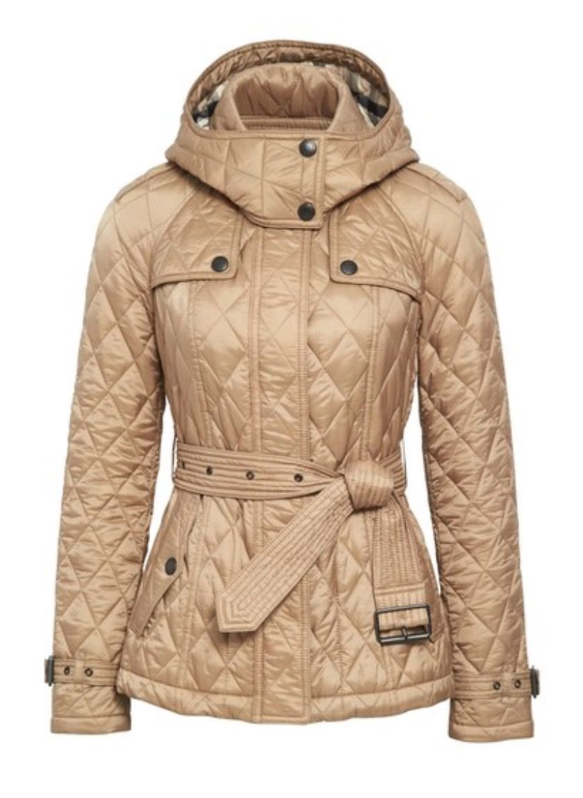 Burberry Finsbridge Short Quilted Jacket Pale Fawn
