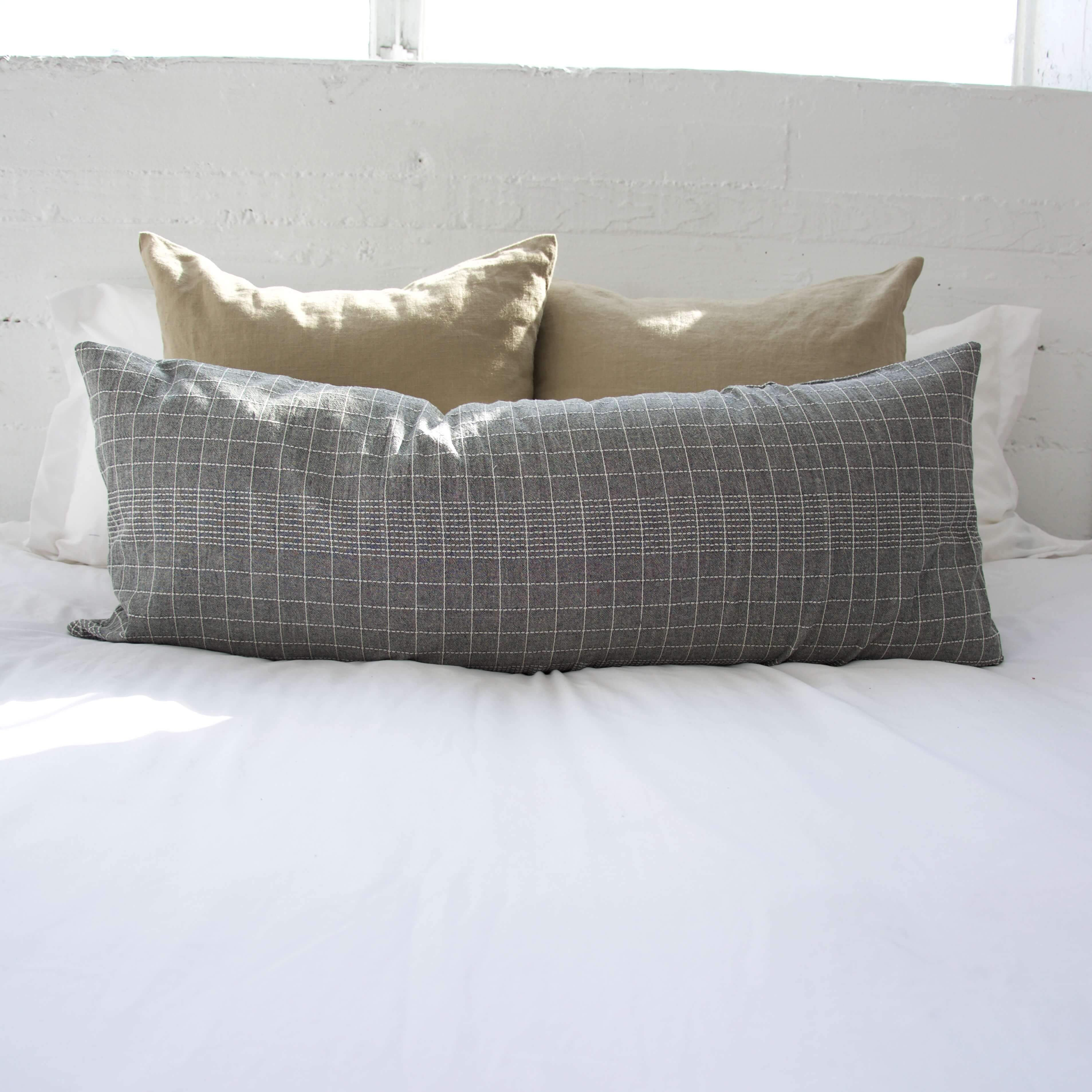 Off The Grid Extra Long Lumbar Pillow Grey x Products