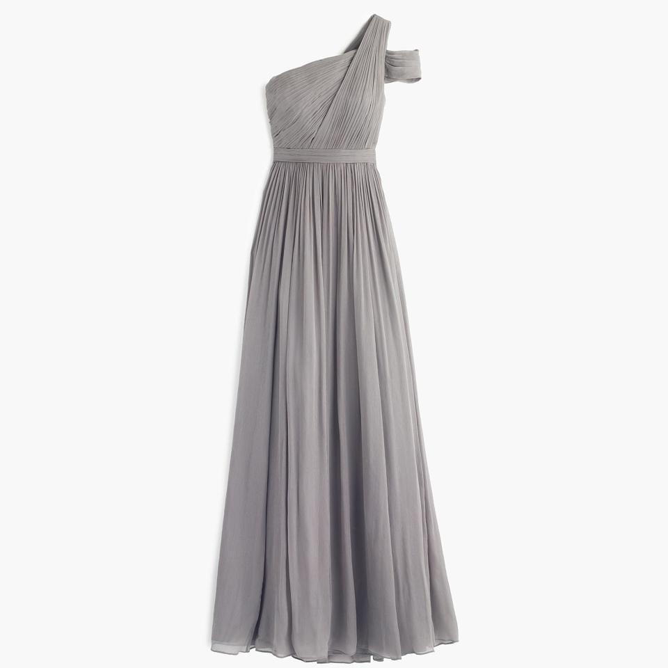Graphite silk chiffon cara long formal bridesmaidmob dress mob graphite silk chiffon cara long formal bridesmaidmob dress ombrellifo Image collections